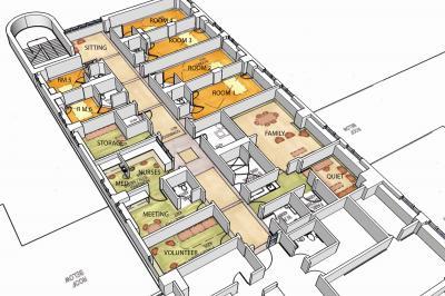 Architect's interpretation of the new palliative care unit at St Martha's Regional Hospital