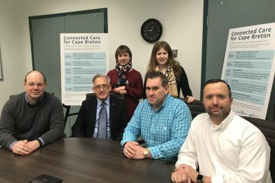 The leadership team with the CBRM Health Care Redevelopment project welcomed its newest member, Dr. Kevin Orrell, as the project's senior medical director today.