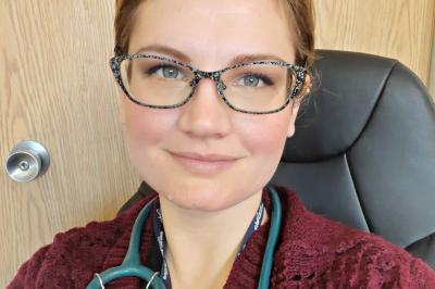 Nurse practitioner Maria Ceschiutti works at the new Shelburne Family Practice Collaborative Health Centre (Contributed/NSHA).