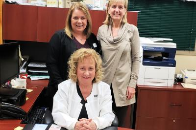 Leanna  MacDonald, Wendie Christoff and Karen Jessome are members of the diabetes education team in Glace Bay.