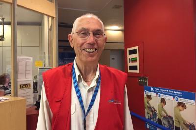 Hospitality volunteer George McKelvie.