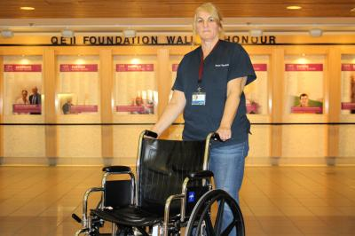 Lisa Hartlen is a casual porter at the QEII's Halifax Infirmary site.