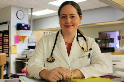 Dr. Elizabeth Burton is a hospitalist at the Halifax Infirmary (Kristen Lipscombe/NSHA).