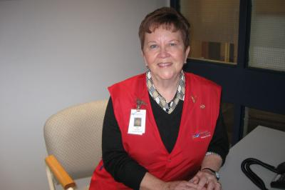 NSHA volunteer Jane Marshall at Aberdeen Hospital in New Glasgow.