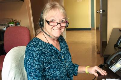 Licensed practical nurse and continuing care referral assistant Elaine Earle is ready to respond to Nova Scotians who need health care at home.