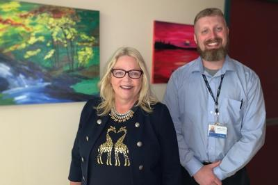 Mental health and addictions program leader Mary Pyche and health services manager Matt White (Contributed).
