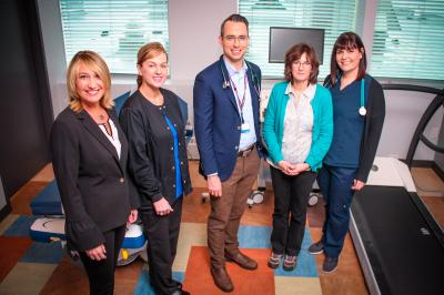 Some of the team at the new Mumford cardiology clinic.
