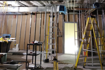 Construction underway at the chemotherapy preparation lab
