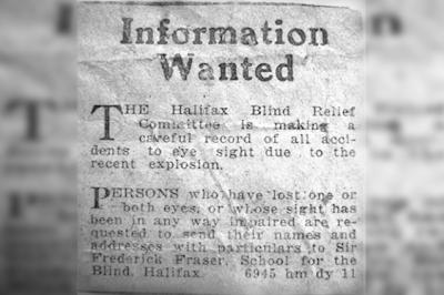 Halifax Explosion newspaper clip