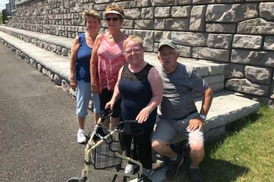 Donna Abraham, Isabel Levangie, Mary Richard, Brian Richard took part in Walk With a Doc.