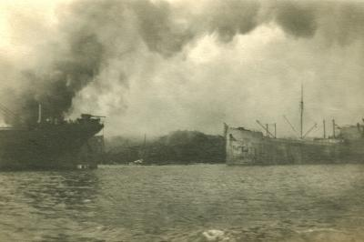 Ships in the Harbour after Explosion