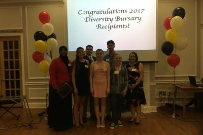 Diversity Bursary Recipients 2017 - two absent