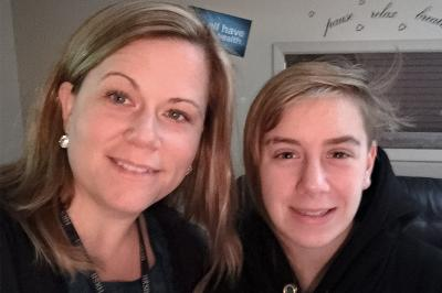 Millwood High School vice-principal Lauren Emanuel and student, Lilly Hutchinson