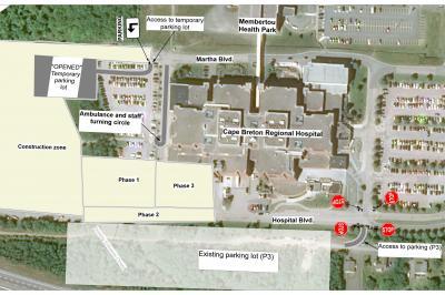 traffic and parking plan diagram