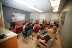High School Co-op students from the QEII, Dartmouth General Hospital and Hants Community Hospital attending a career education day.