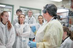 High School Co-op students being introduced to forensic medicine at the QEII.