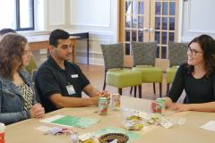 Students attend breakout sessions with health care professionals at the end of year meeting